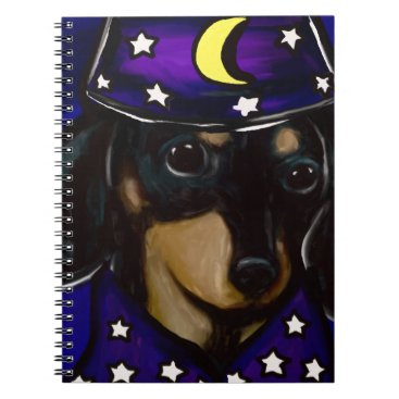 Halloween Themed Wizard Doxie Notebook