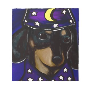Halloween Themed Wizard Doxie Notepad