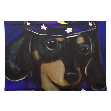 Halloween Themed Wizard Doxie Placemat