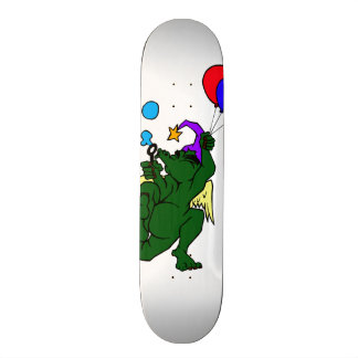 Wizard Dragon With Balloons Skateboard