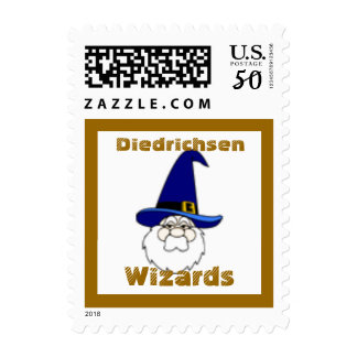 Wizard Face Wizards School Mascot Postage Stamp