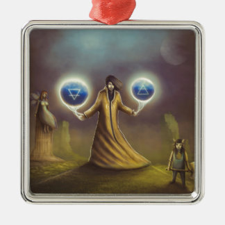 wizard fantasy magic metal ornament