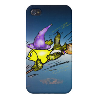 Wizard Fish - funny cute drawing iPhone 4/4S Case