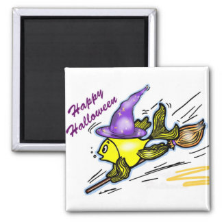 Wizard Fish - funny cute drawing Magnet