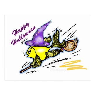 Wizard Fish - funny cute drawing Post Cards
