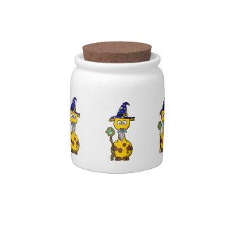 Wizard Giraffe Cartoon Candy Jar