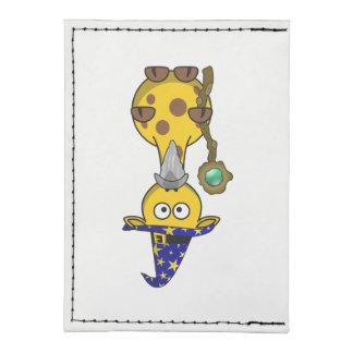 Wizard Giraffe Cartoon Card Wallet