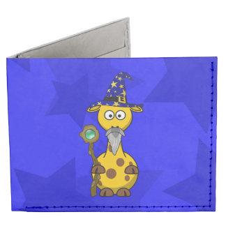 Wizard Giraffe Cute Cartoon Billfold Wallet