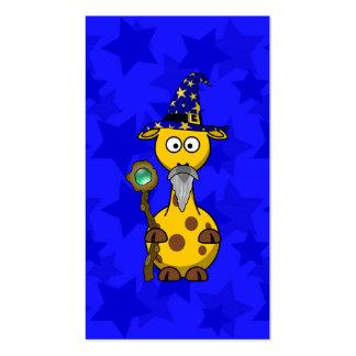 Wizard Giraffe Cute Cartoon Business Card