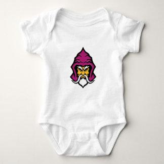 Wizard Head Front Mascot Baby Bodysuit