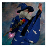 Wizard in Blue Poster