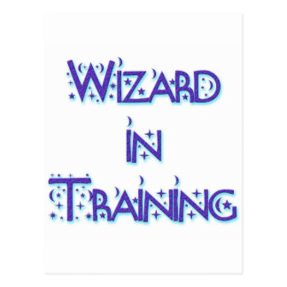Wizard in Training blue Postcard