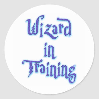 Wizard in Training Classic Round Sticker