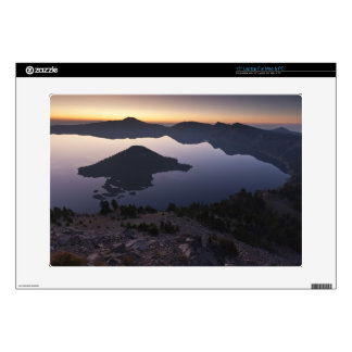 "Wizard Island at dawn, Crater Lake National Park 15"" Laptop Decal"