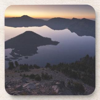 Wizard Island at dawn, Crater Lake National Park Beverage Coaster