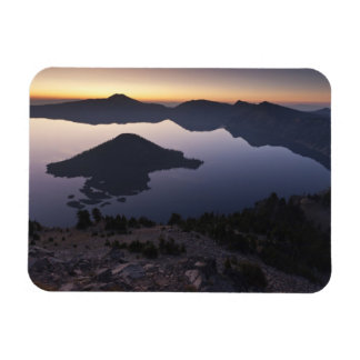 Wizard Island at dawn, Crater Lake National Park Magnet