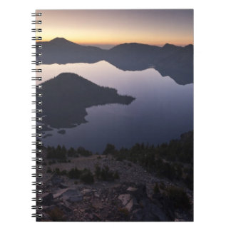 Wizard Island at dawn, Crater Lake National Park Note Books