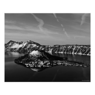 Wizard Island - Crater Lake N.P. Poster