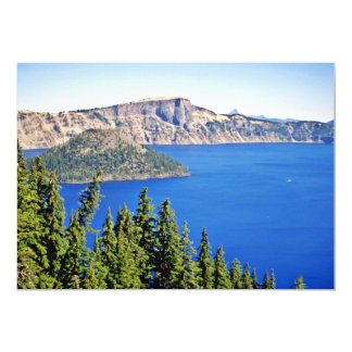 Wizard Island - Crater Lake National Park 5x7 Paper Invitation Card