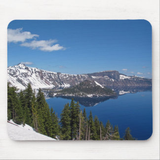 Wizard Island, Crater Lake National Park, Oregon Mouse Pad