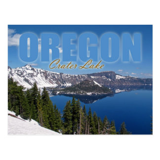 Wizard Island, Crater Lake National Park, Oregon Postcard