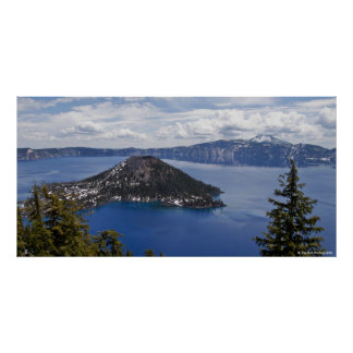Wizard Island - Crater Lake National Park Poster