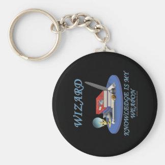 Wizard: Knowledge is My Weapon Basic Round Button Keychain