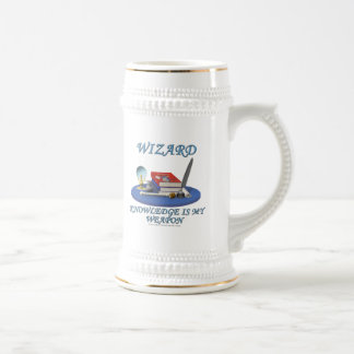 Wizard: Knowledge is My Weapon Beer Stein