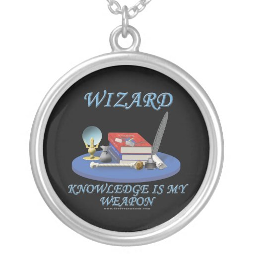 Wizard: Knowledge is My Weapon Necklace