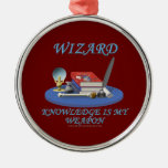 Wizard: Knowledge is My Weapon Ornaments