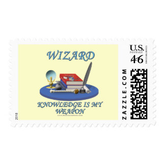 Wizard: Knowledge is My Weapon Stamps