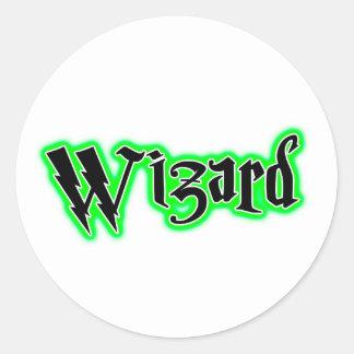 Wizard - Magic, Witch, Wicca Humor Classic Round Sticker