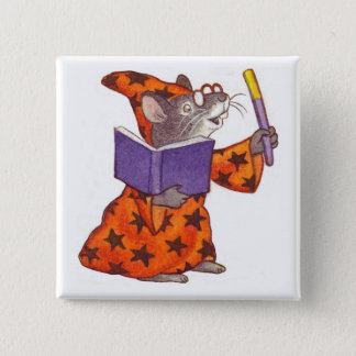 Wizard Mouse Pinback Button