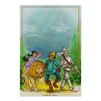 Wizard of Oz Art Poster