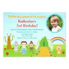 Wizard Of Oz Birthday Invitation 5x7 Photo Card