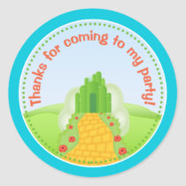 Wizard Of Oz Birthday Party Favor Stickers