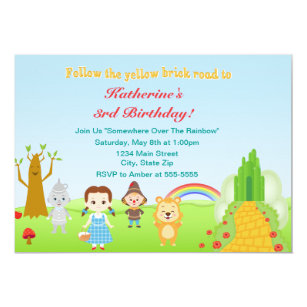 Wizard Of Oz Invitations Announcements Zazzle