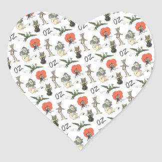 Wizard of Oz Characters Heart Sticker