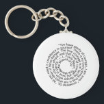 "Wizard of Oz courage quote keychain key ring<br><div class=""desc"">Wizard of Oz courage quote done in a fun spiral pattern.  These key chains would make great office gifts or party favours.</div>"