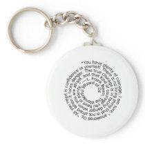 Wizard of Oz courage quote keychain key ring