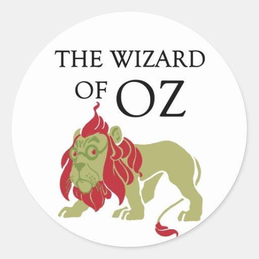 Wizard of Oz Cowardly Lion Round Stickers