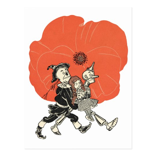 Wizard of Oz Dorothy and Poppies Postcard