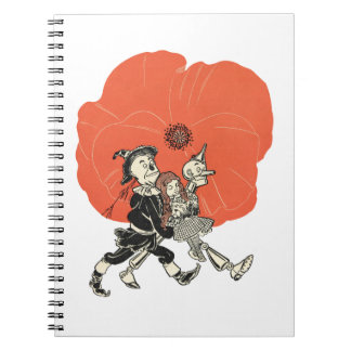 Wizard of Oz Dorothy and Poppies Spiral Notebook