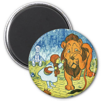Wizard of Oz Dorothy and the Cowardly Lion 2 Inch Round Magnet