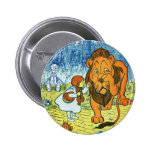 Wizard of Oz Dorothy and the Cowardly Lion 2 Inch Round Button