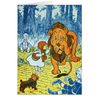 Wizard of Oz Dorothy and the Cowardly Lion Card