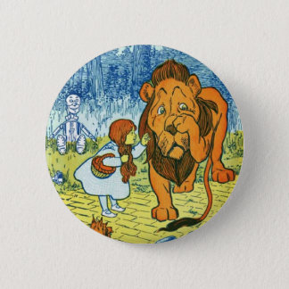 Wizard of Oz Dorothy and the Cowardly Lion Pinback Button
