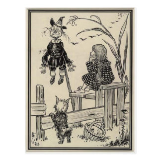 Wizard of Oz Dorothy and the Scarecrow Postcard