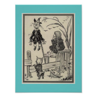 Wizard of Oz - Dorothy and the Scarecrow poster