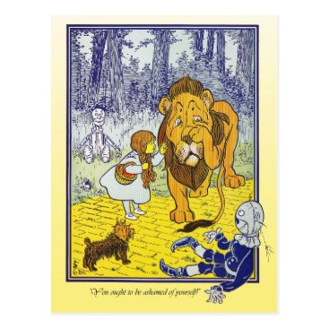 HTMimages Wizard of Oz: Dorothy Meets The Cowardly Lion Postcard